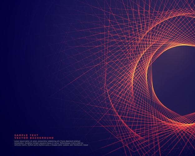 チューナー形状の背景を形成する抽象的な線