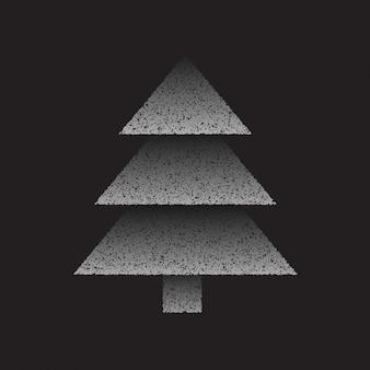 抽象グレークリスマスツリー