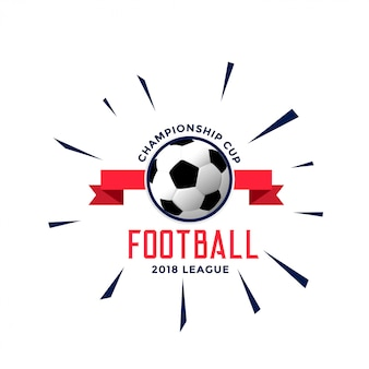 サッカー選手権のロゴスタイルのコンセプトデザイン