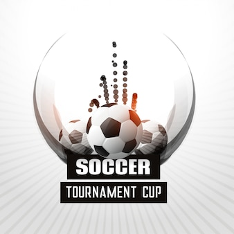 サッカートーナメント選手権抽象的な背景