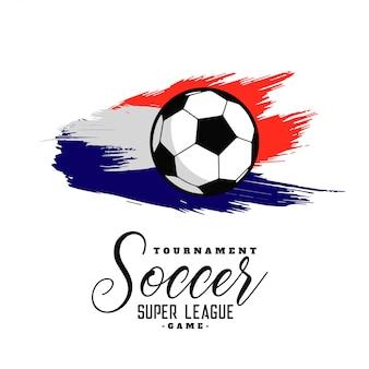 抽象的なサッカーの水彩の背景のデザイン
