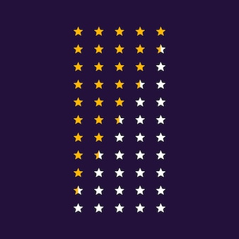 ベクトル星評価シンボルアイコン