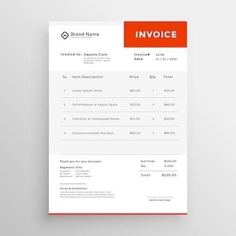 Простой дизайн шаблона счета-фактуры