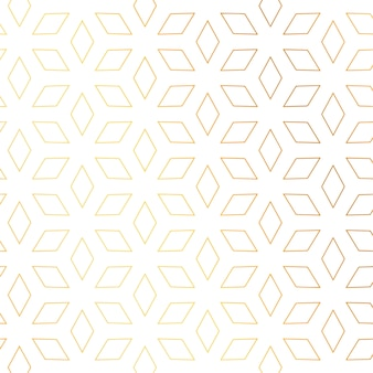 ダイヤモンドの形の金色のパターンベクトルの背景