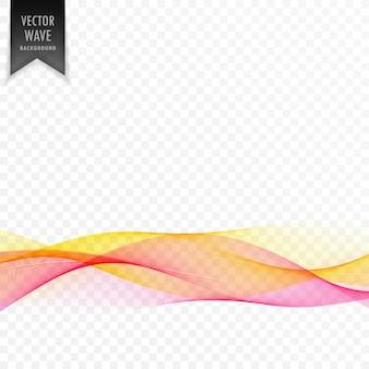 ピンクと黄色の抽象的な優雅な波の背景