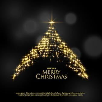 美しい輝きの光るクリスマスツリーのデザイン