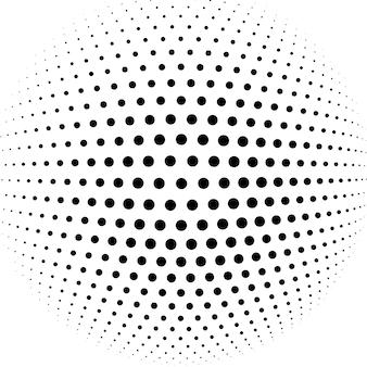 抽象的なハーフトーン球のベクトルの背景