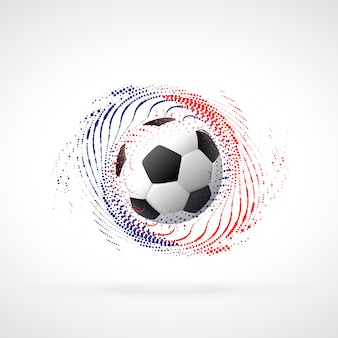 パーティクルスワールを使ったサッカー選手権バナーデザイン