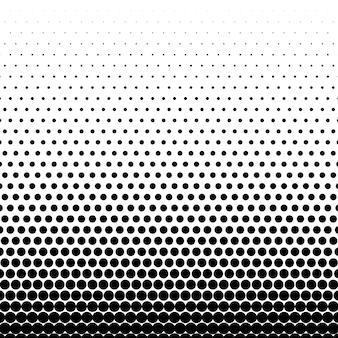 サークルブラックハーフトーンベクトルの背景