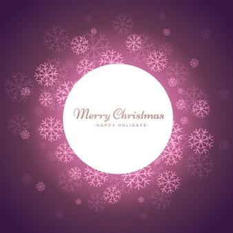 雪ピンククリスマスの背景