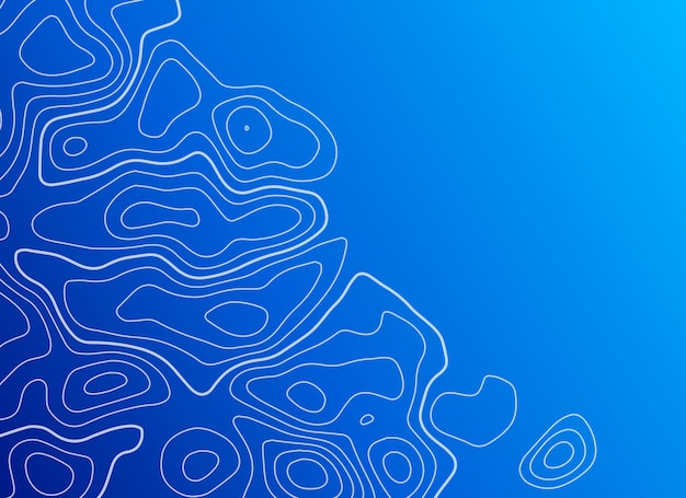 Синий фон с топографическим контуром