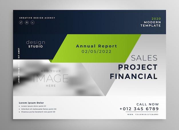創造的なプロフェッショナルグリーンビジネスパンフレットのテンプレート