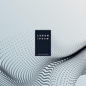 抽象的な粒子の波のデザインの背景
