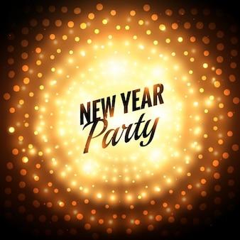 新年パーティーのグリーティングカード