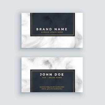 Простая черно-белая визитная карточка с мраморной текстурой