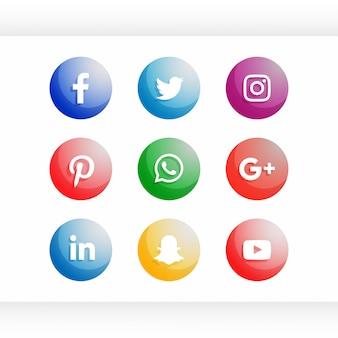 ソーシャルメディアアイコンセット