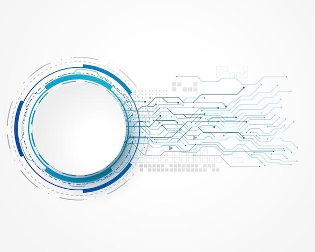 ワイヤーメッシュとテキストスペースを持つ技術コンセプトの背景