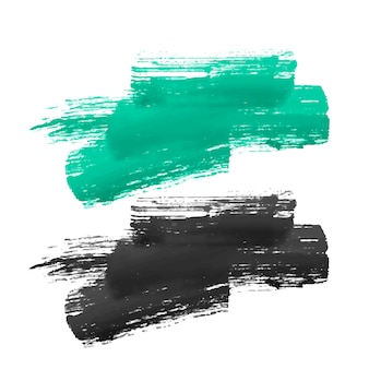 手塗りのブラシストロークデザイン