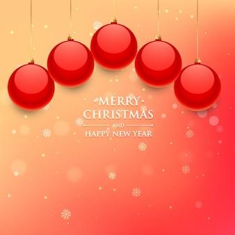 Красные рождественские шары в боке фоне