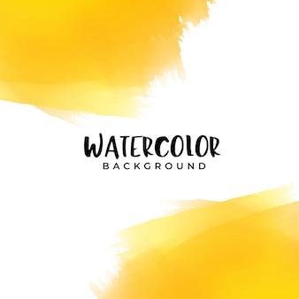 テキストスペースのある黄色の水彩画の背景