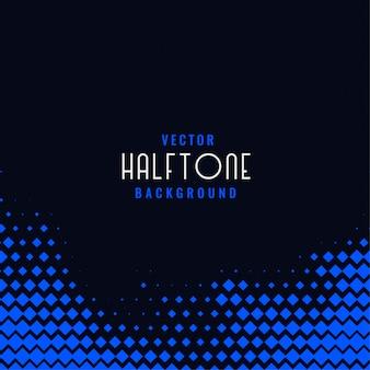 青色の幾何学的なハーフトーンを持つ暗い背景
