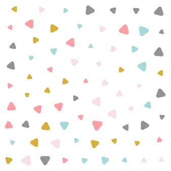 カラフルなパステル三角パターンのデザイン