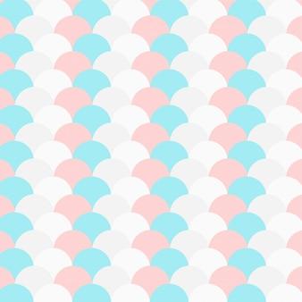 パステルカラーの繰り返し円のパターン