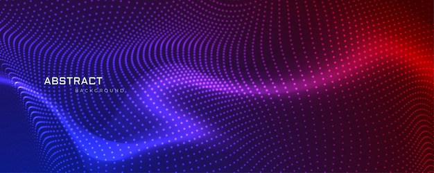 Абстрактная конструкция баннера цветных частиц