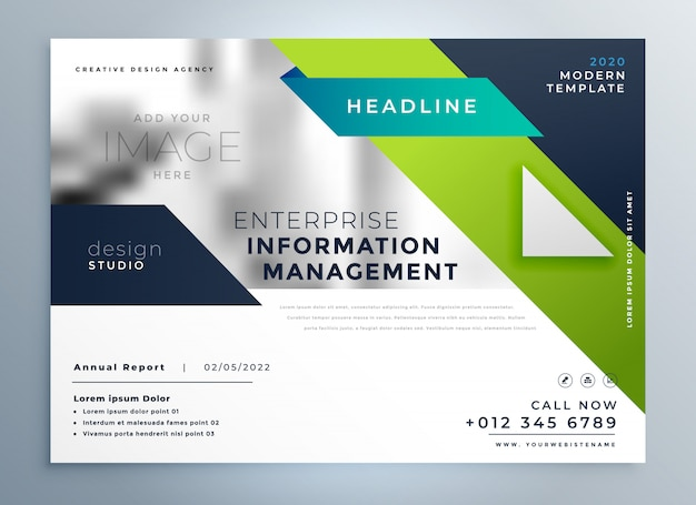 プロフェッショナルな創造的なビジネスのパンフレットのテンプレート
