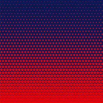 赤い菱形の形のハーフトーンの背景