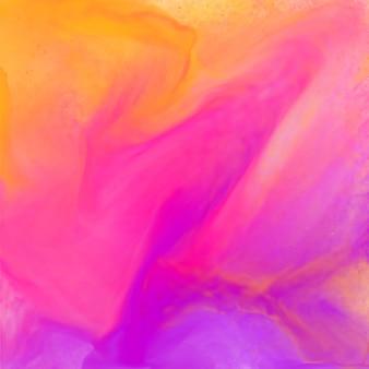 明るいカラフルな抽象的なピンク色の水彩
