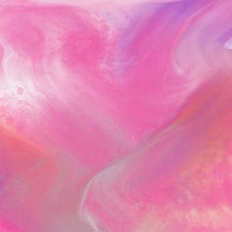 インクの流れを持つ抽象的な水彩の背景