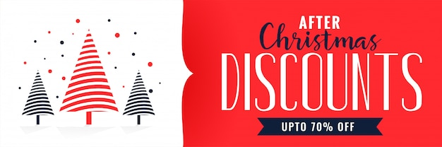 Шаблон дизайна баннеров на рождество