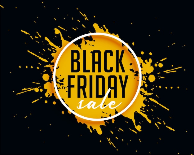 Абстрактная черная пятница продажа с чернилами всплеск