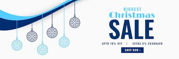 Современная рождественская распродажа декоративного баннерного дизайна