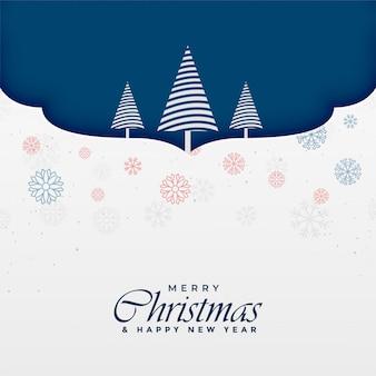 創造的な木のデザインとメリークリスマスの背景