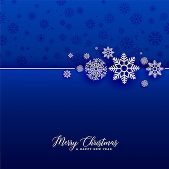 素晴らしい青い雪のクリスマスの背景