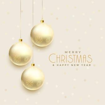 Красивые висячие рождественские шары фон