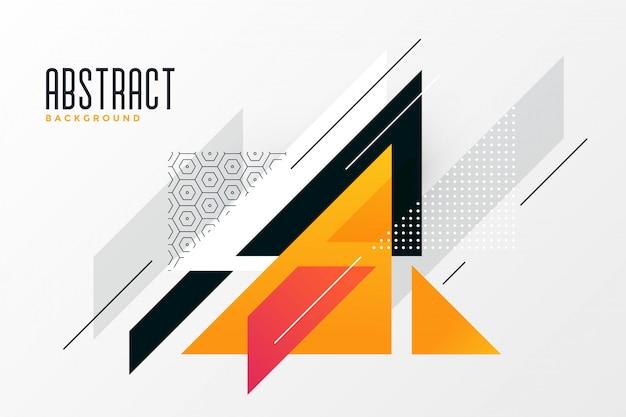抽象的な三角形はメンフィスの背景を形作る