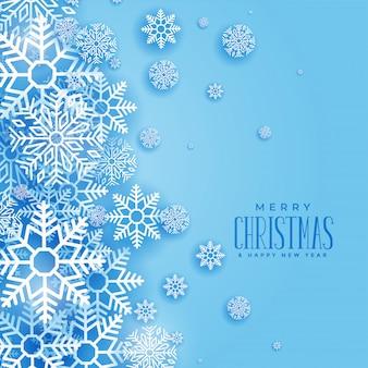 Прекрасный рождественский зимний фон из снежинок