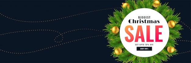 Рождественский распродажа баннер с текстовым пространством