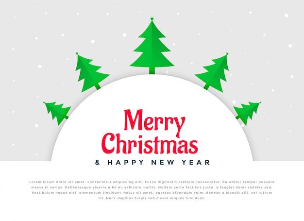 クリスマスツリー装飾の背景デザイン