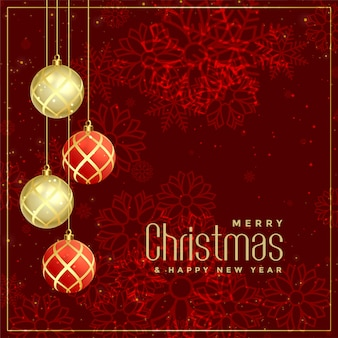 Роскошный стиль веселого рождественского приветствия