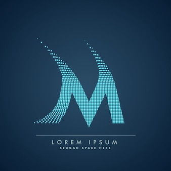 Логотип клетчатой буквой м