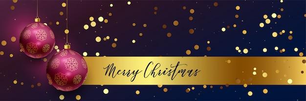 メリークリスマスの美しいバナー