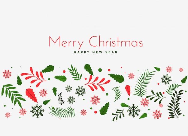 Красивые рождественские листья украшение фон