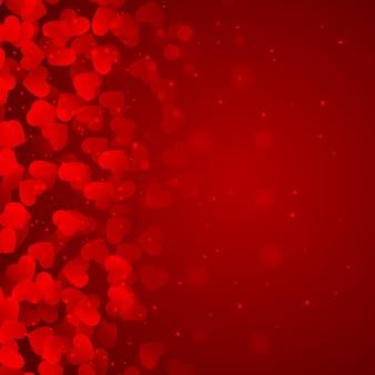 Красный фон из сердечек