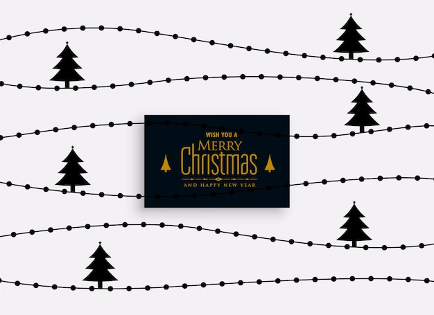 エレガントなクリスマスツリーのパターンの背景