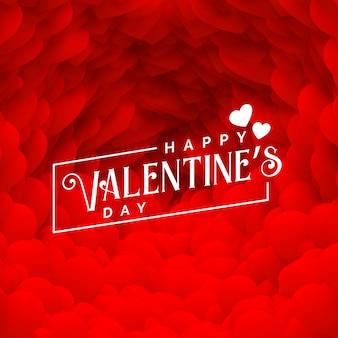 幸せなバレンタインデーのための素敵な赤いハートの背景