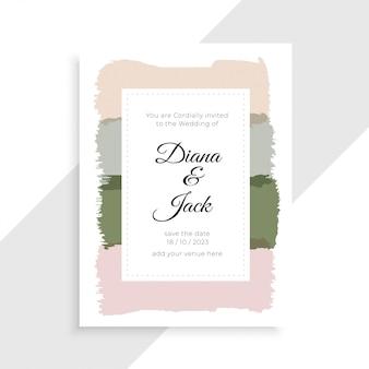 エレガントな結婚式の招待状カードデザイン